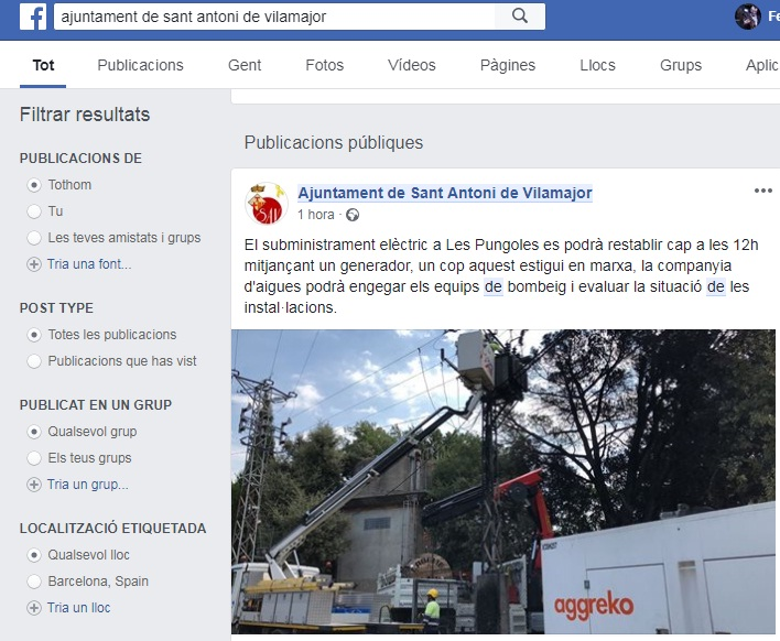 incendi Pungoles Facebooc Ajuntament