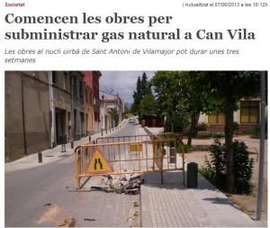 gas ciutat a Can Vila