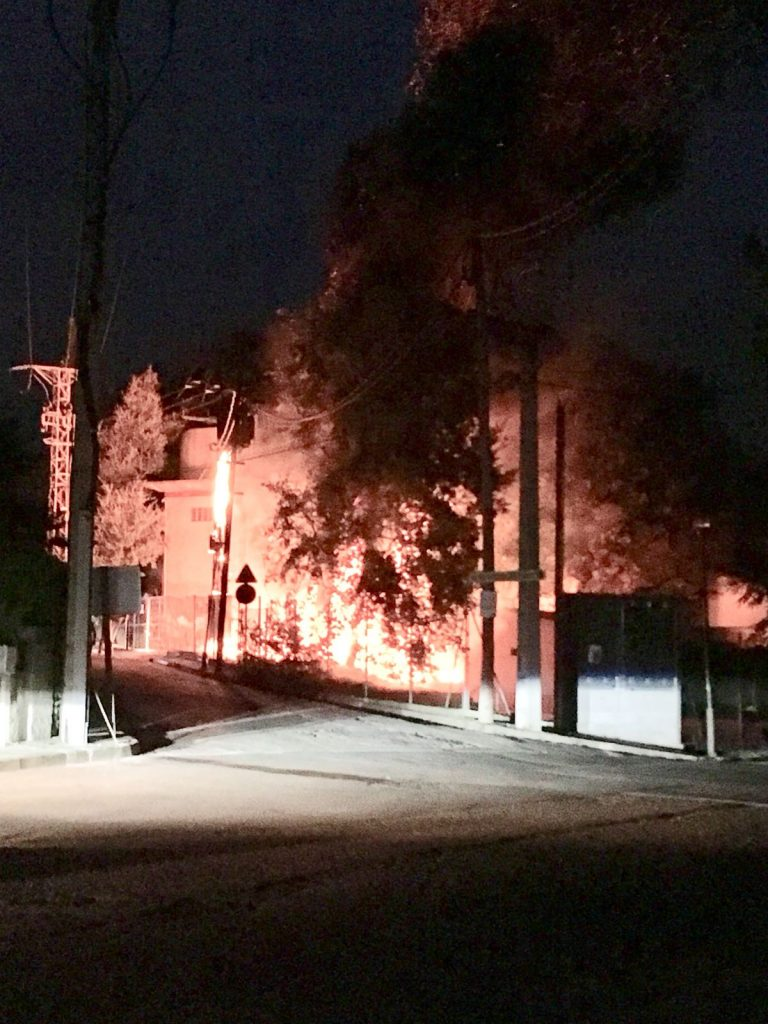 incendi a Pungoles