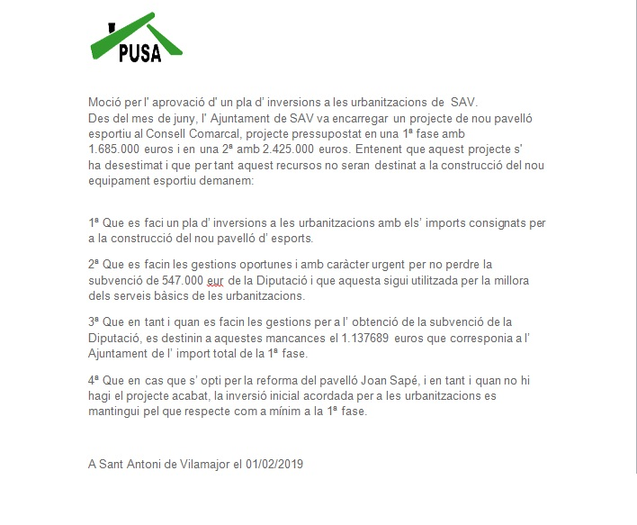 Mocio inverssions urb 2019